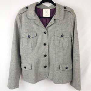 Relativity Tweed Wool Blazer Coat Lined